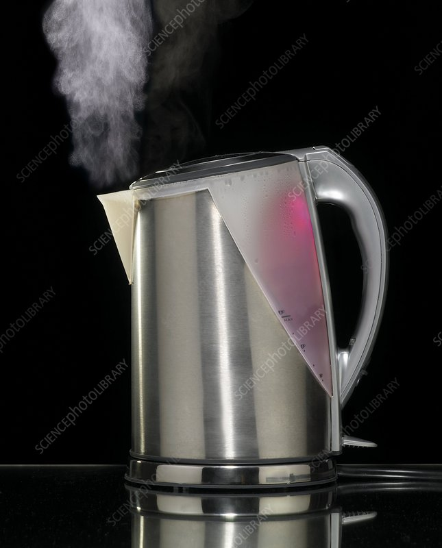Electric kettle boiling