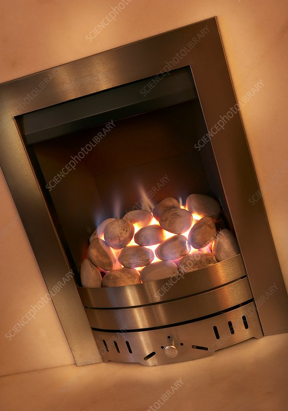 Domestic gas fire