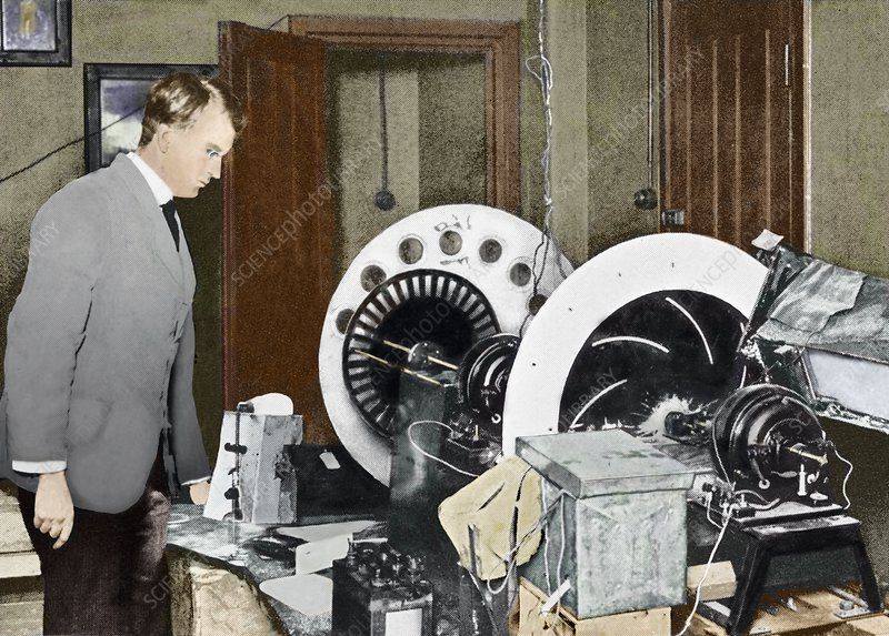 Baird inventing his television, 1920s