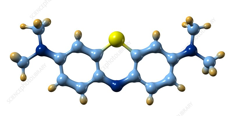 Methylene blue, molecular model
