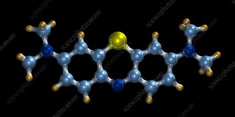 Methylene blue, molecular model