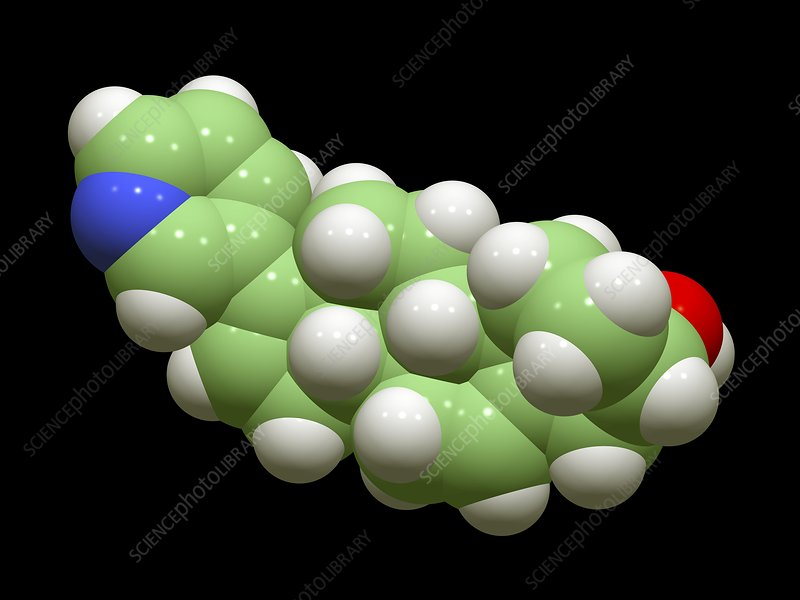 Abiraterone prostate cancer drug molecule