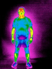 Man, thermogram