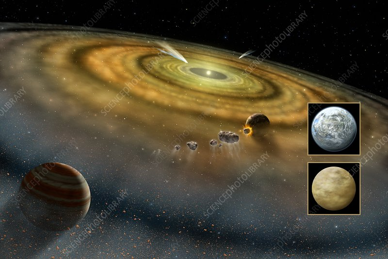 Beta Pictoris planetary disc, artwork
