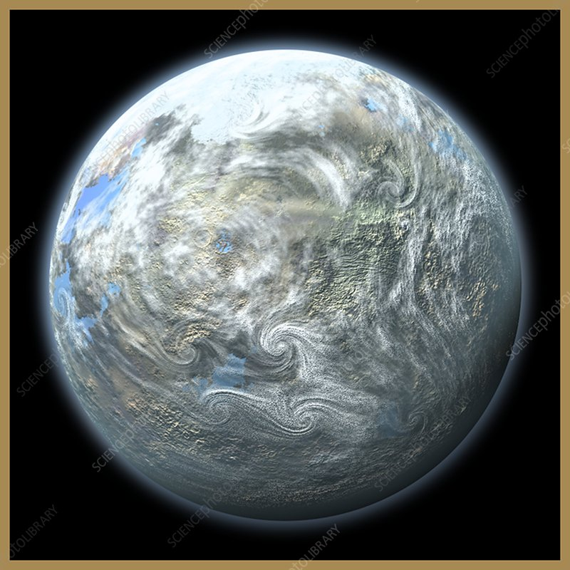 Beta Pictoris Earth-like planet, artwork