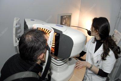 Laser eye surgery preparation