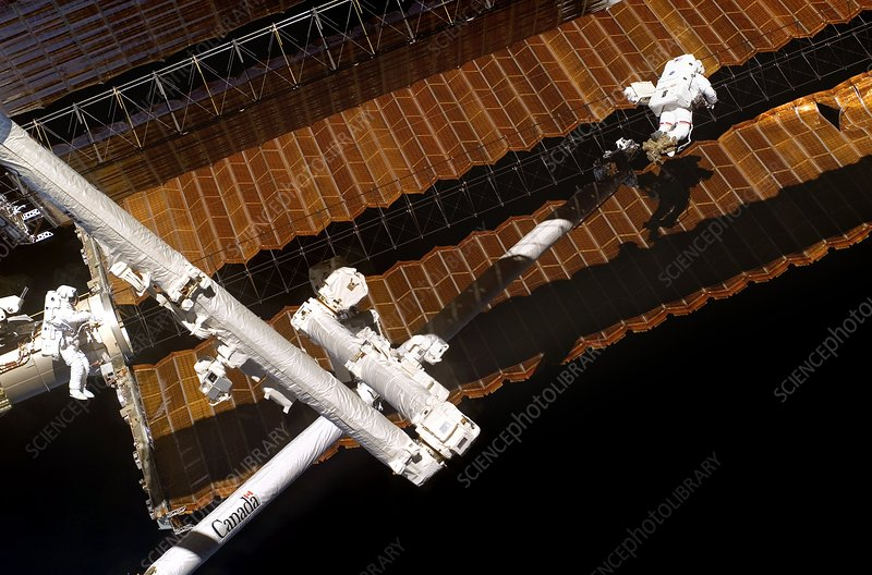 ISS solar array repair