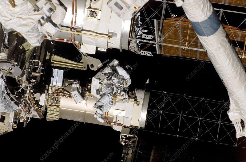 ISS solar array repair