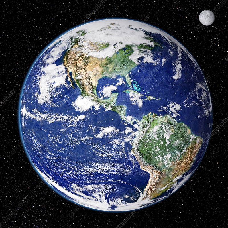 Earth from space, satellite image - Stock Image - C001/1764 - Science Photo  Library
