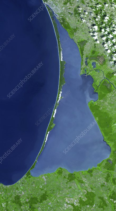 Curonian Spit, satellite image