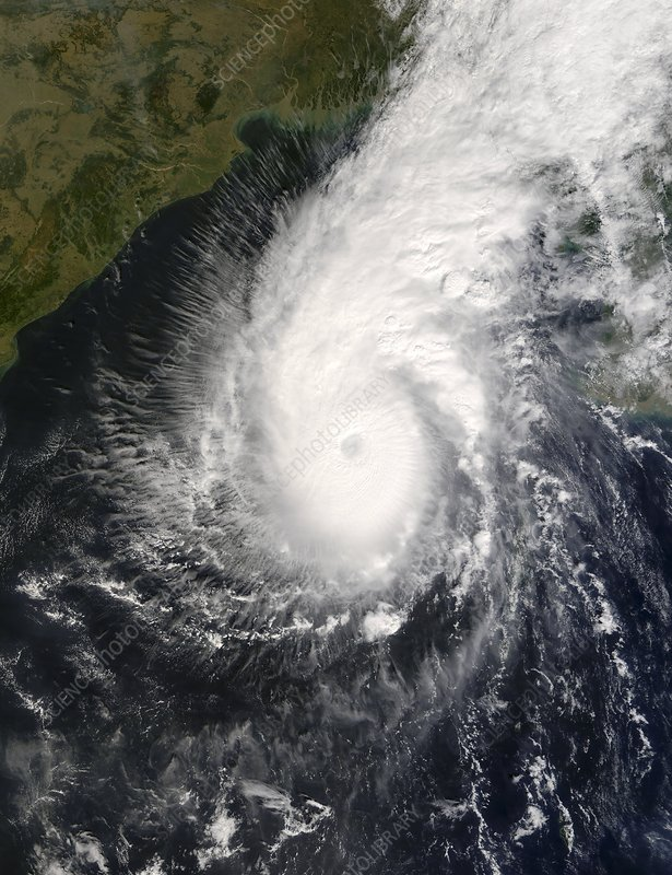 Tropical Cyclone Sidr, satellite image