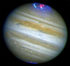 Jupiter's aurorae, X-ray and UV image