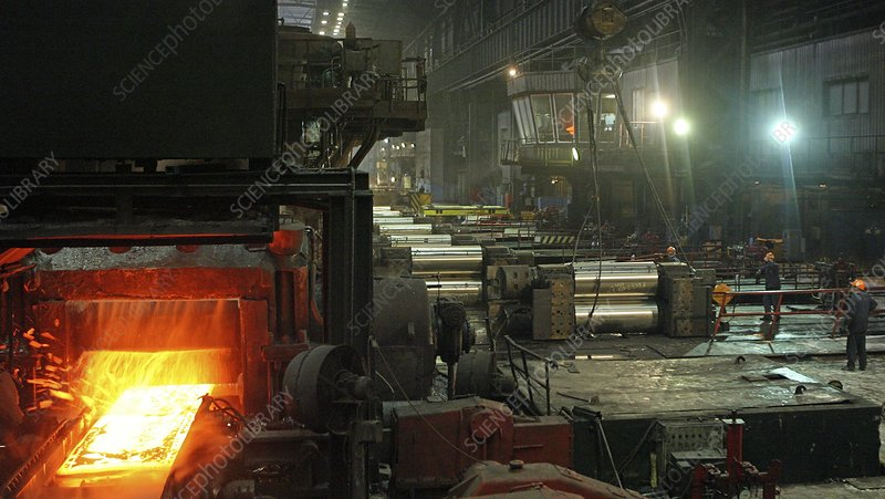 Sheet mill processing molten metal