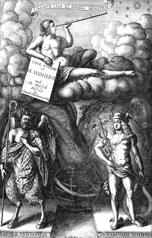 The Sphere of Manilius title page, 1675