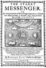The Starry Messenger title page, 1645