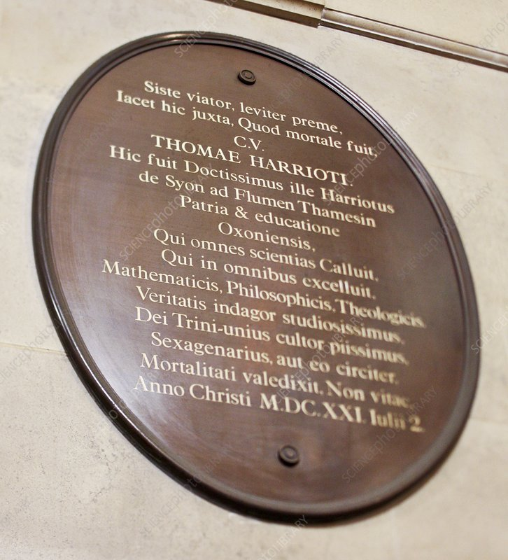 Thomas Harriot plaque