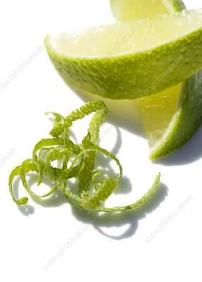 Lime slices and peel