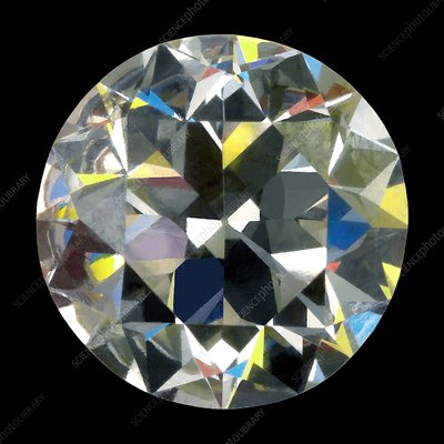 Cut and polished diamond