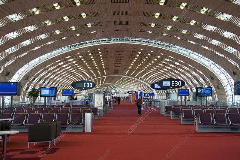 Airport departure gates, Paris