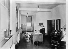 X-ray treatment room, early 20th century