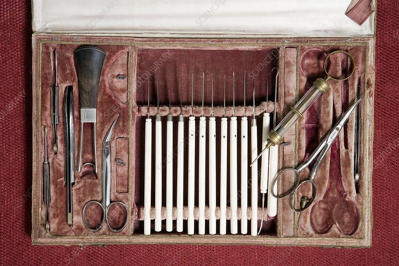 19th century surgical instruments - Stock Image - C001/3302