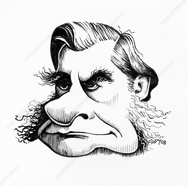 Thomas Huxley, caricature