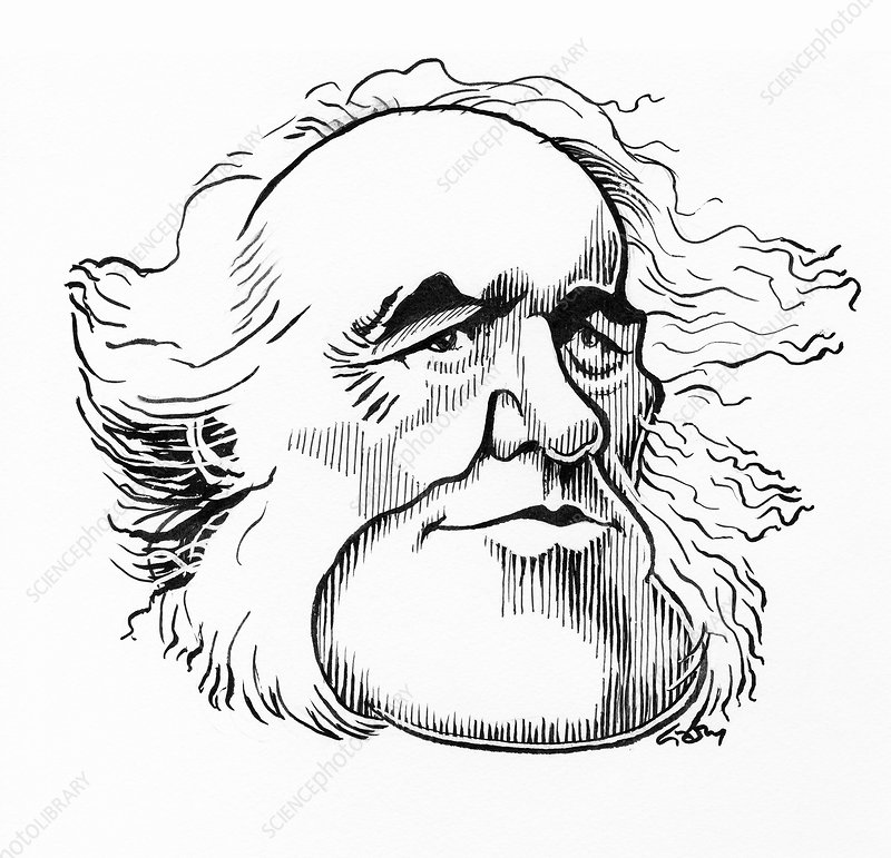 Charles Lyell, caricature