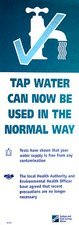 Tap water warning sign