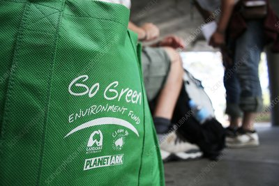 Eco-friendly shopping bag and backpackers
