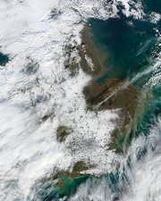 Snowfall in southeastern England, 2009