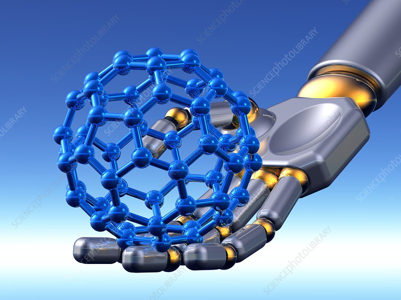 Buckyball molecule, artwork