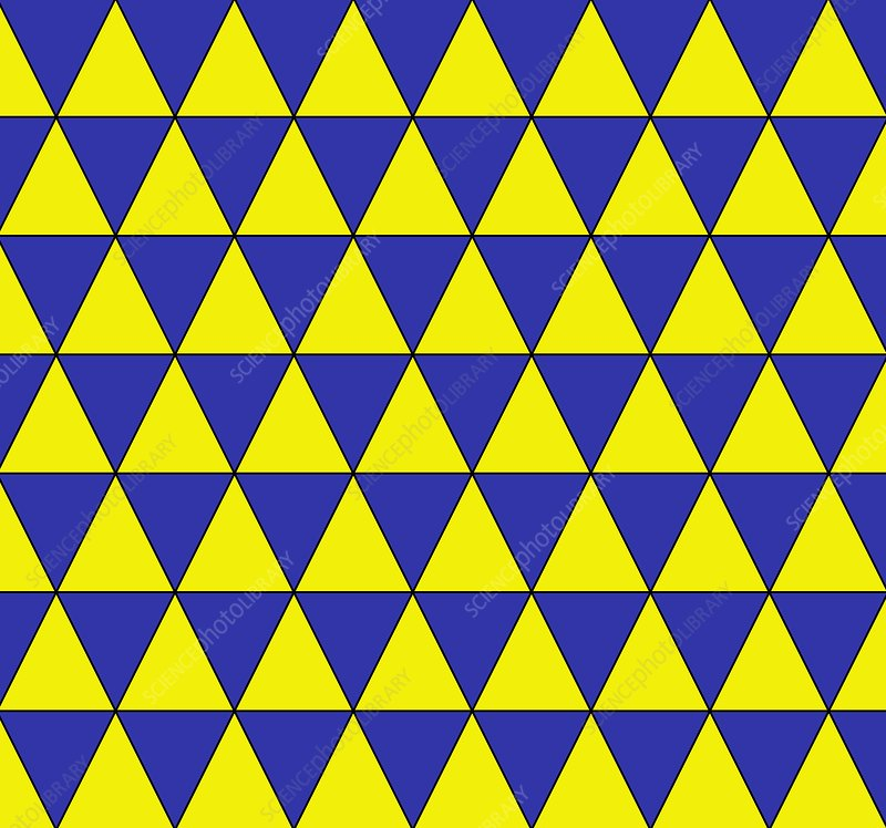 Uniform tiling pattern - Stock Image C001/3860 - Science Photo Library