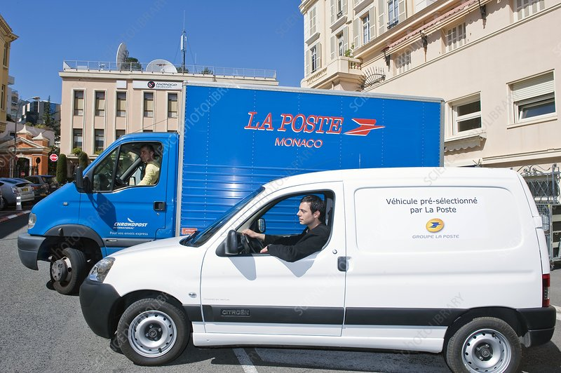 Electric postal van