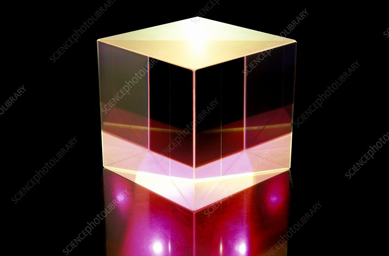 Glass cube optical component