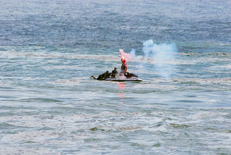 Jet ski in distress, Reunion Island