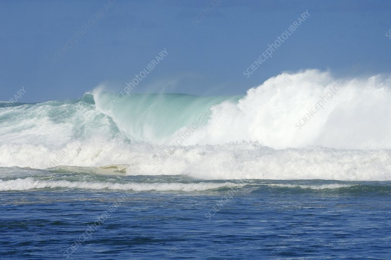 Giant waves, Reunion Island