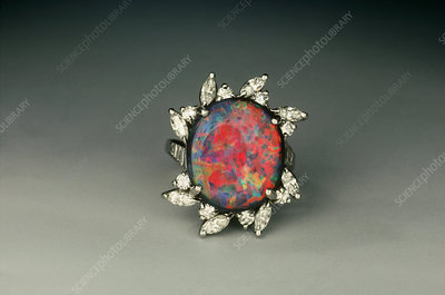 Black Opal Rings on Black Opal Ring