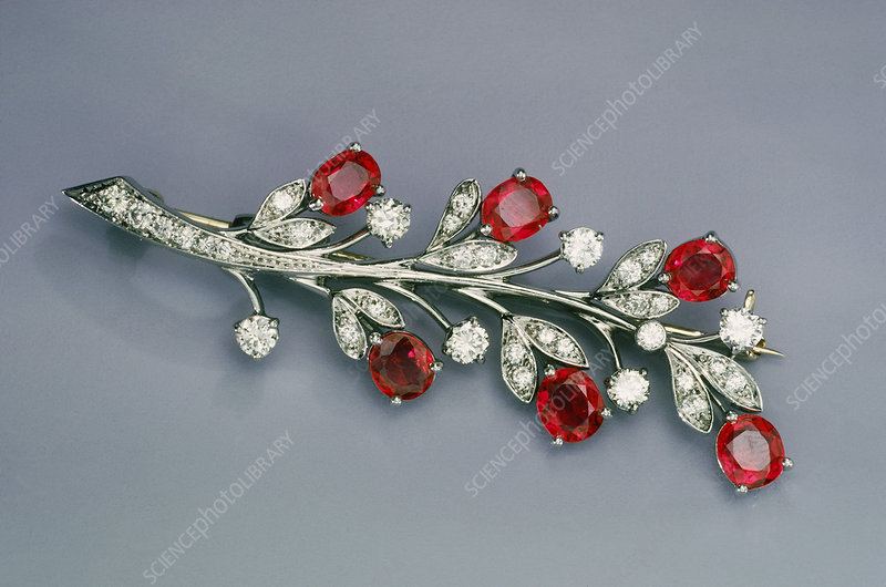 Ruby and Diamond Pin