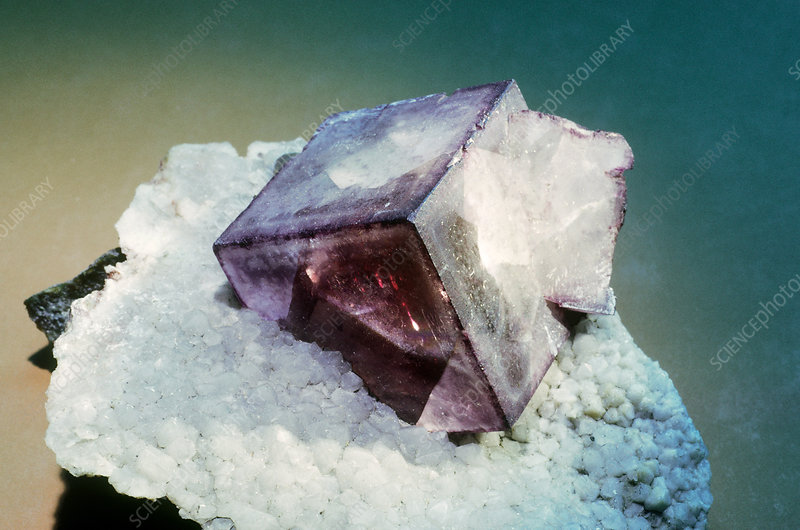 'Fluorite from Cornwall, England'