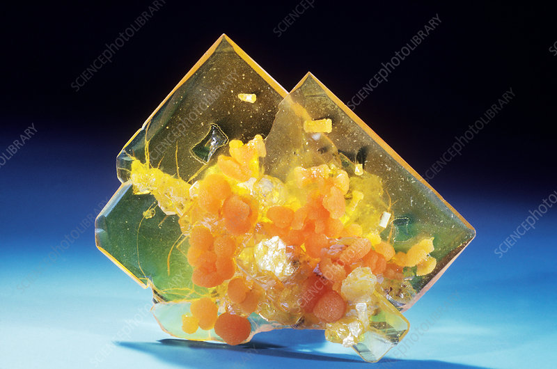 'Wulfenite from Theba, Arizona'
