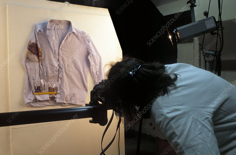Photographing forensic evidence