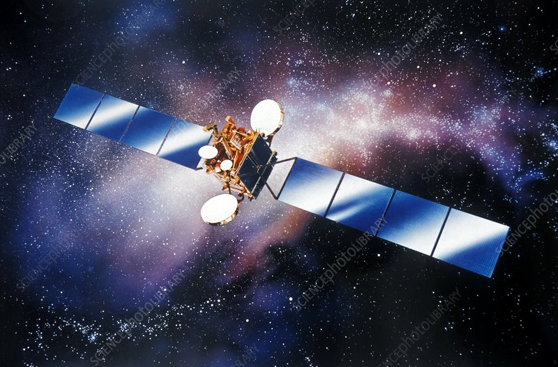 Eutelsat satellite, artwork