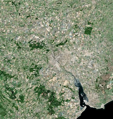 Exeter, satellite image