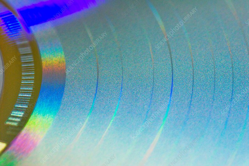 Compact disc surface