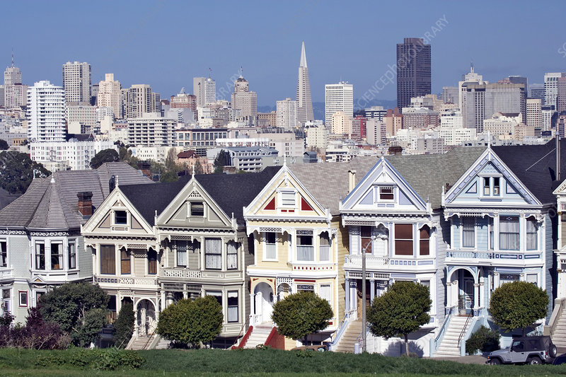 Victorian Homes Facing Alamo Square