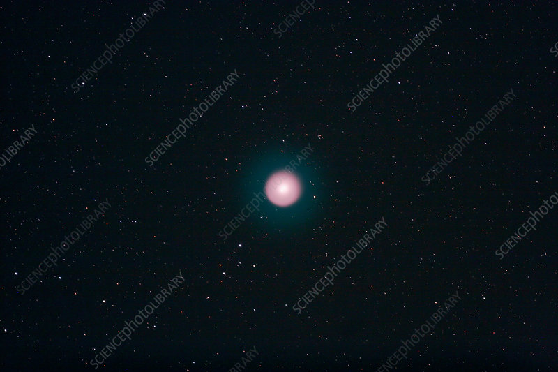 Comet Holmes in outburst in Perseus