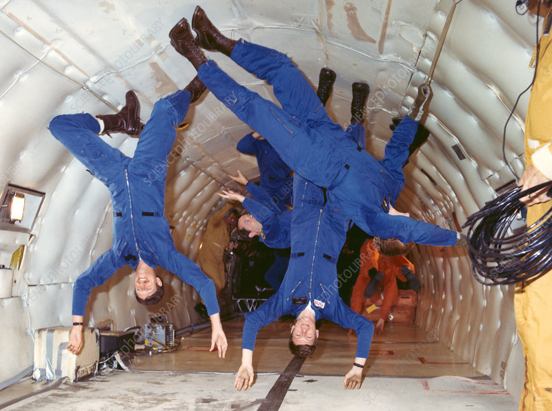 Astronauts in weightlessness training