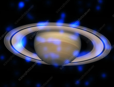 Saturn's Rings sparkling with x-rays