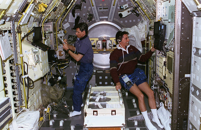 Astronauts Performing Experiments