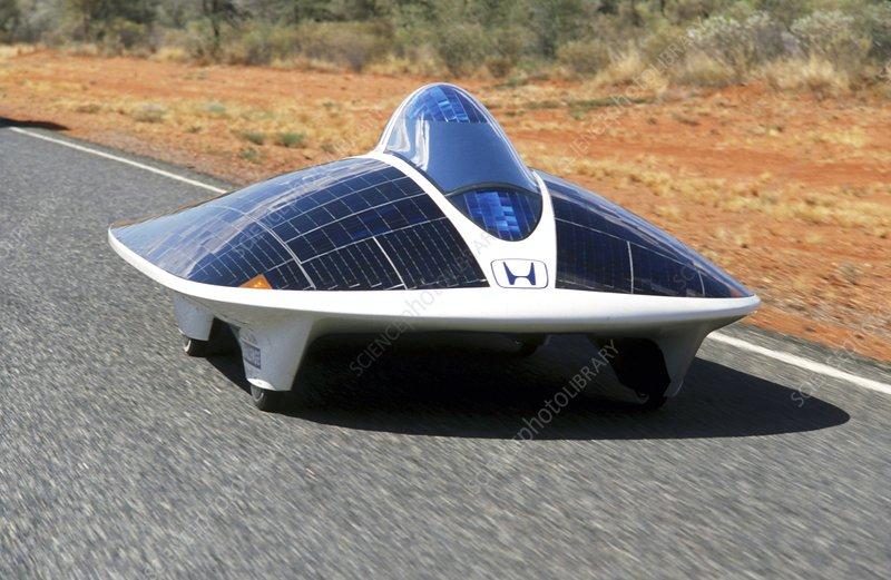 Honda Dream Ii Solar Car Stock Image C001 5370